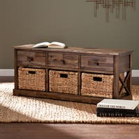 The Gray Barn Mustang Rounds Storage Bench