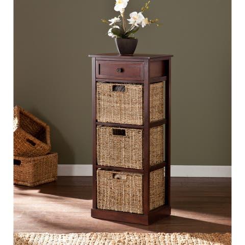 Killeen 3-Drawer Natural Seagrass Basket Storage Unit