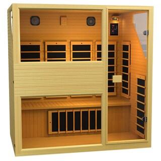 JNH Lifestyles Ensi 4-person 0-EMF Far Infrared Canadian Hemlock Wood Sauna (Model NE4HB)