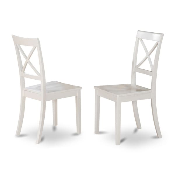 Boston X Back Wooden Dining Room Chair Set Of 2