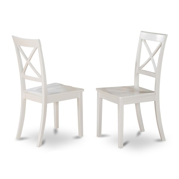 boston x-back wooden dining room chair (set of 2) - free shipping