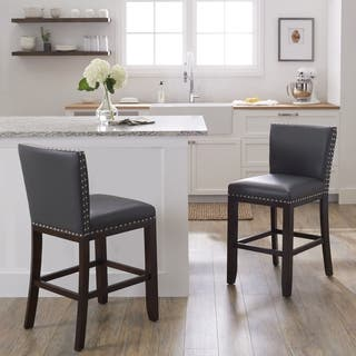 Tisbury 24-inch Counter Height Stool by Greyson Living (Set of 2)|https://ak1.ostkcdn.com/images/products/10184417/P17310435.jpg?impolicy=medium