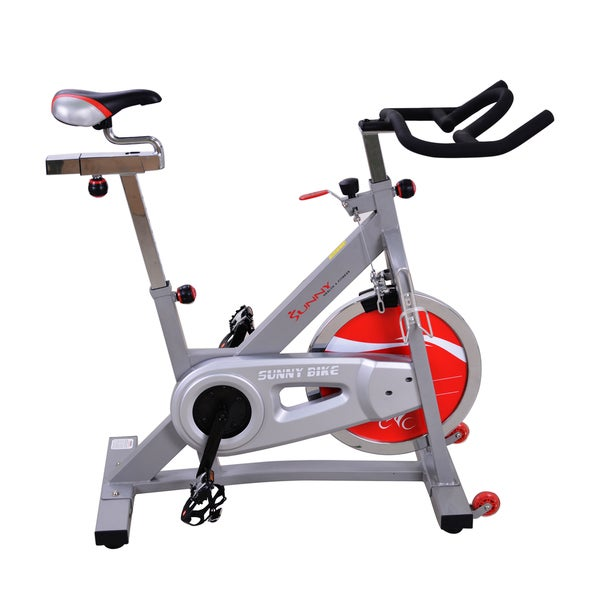Sunny Health & Fitness SF-B901B Belt Drive Indoor Cycling Bike - Silver
