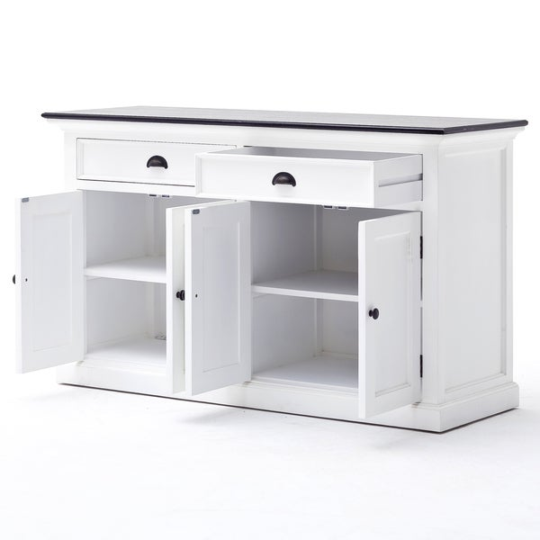 NovaSolo Halifax Contrast Classic White Buffet Table   Free Shipping Today    Overstock.com   17310460