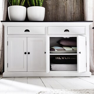The Gray Barn Lands Deerpark Contrast Classic White Buffet Table
