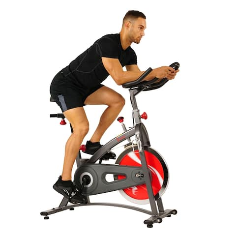 Sunny Health & Fitness SF-B1423 Belt Drive Indoor Cycling Bike - Red