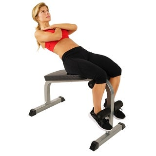 Sunny Health & Fitness SF-BH6502 Heavy Duty Sit-Up Bench - Silver
