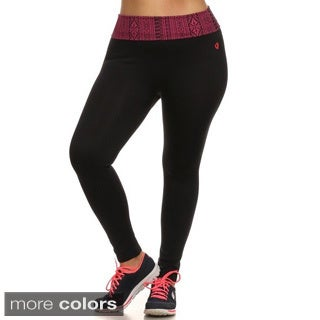 Women's Plus Size Black Activewear Leggings