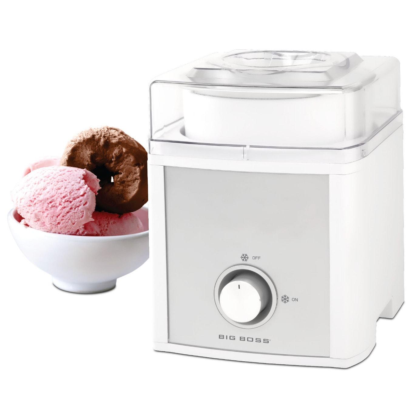 Big Boss 2-quart Ice Cream Maker (White), Silver (Aluminum)