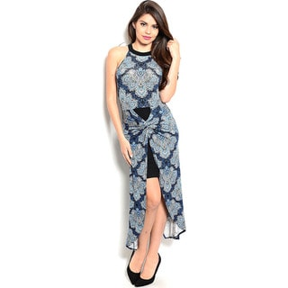 Shop The Trends Women's Sleeveless Hi-low Dress with Twisted Detail on Center