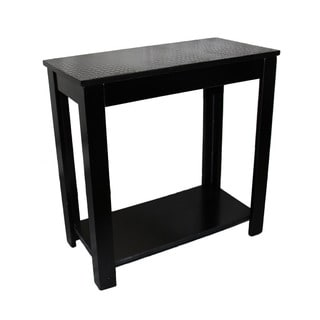 24-inch Black Crocodile Top Table