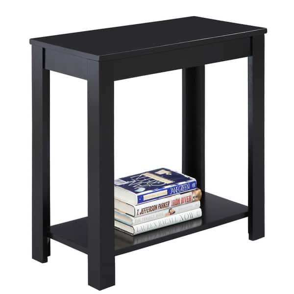 Fine 24 Inch Black Chairside Table Andrewgaddart Wooden Chair Designs For Living Room Andrewgaddartcom
