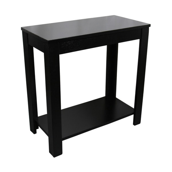 24inch Black Chairside Table Free Shipping Today Overstock