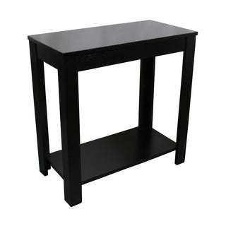 24-inch Black Chairside Table