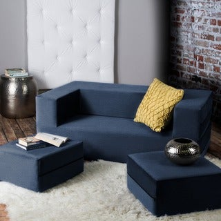 Link to Jaxx Zipline Convertible Queen-size Sleeper Loveseat and Ottoman Set Similar Items in Sofas & Couches