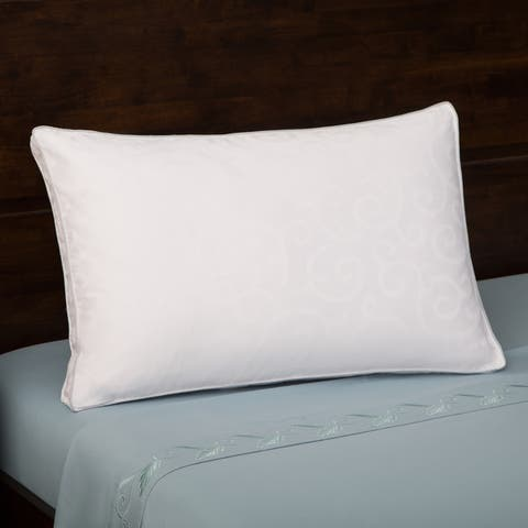 Grandeur Collection 300 Thread Count Cotton Feather and Goose Down Pillow