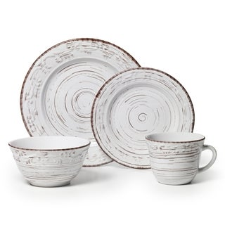 Pfaltzgraff Trellis 16-piece White Dinnerware Set