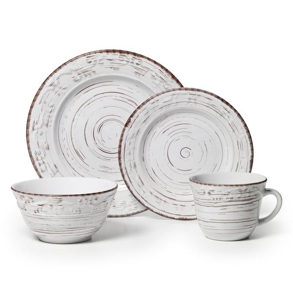 Pfaltzgraff Trellis 16-piece White Dinnerware Set