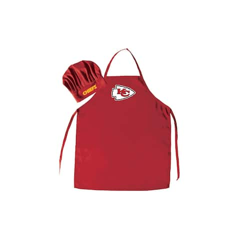 "NFL Team Logo Apron and Chef Hat - 27"" x 40"""