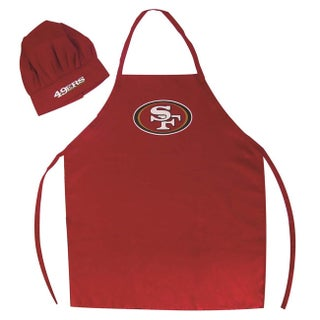 """NFL Team Logo Apron and Chef Hat - 27"""" x 40"""" (More options available)"""
