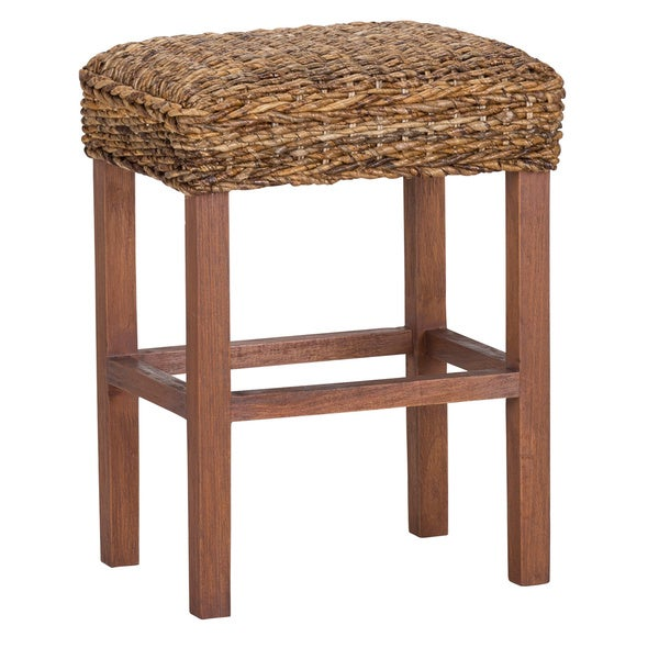Micu Rattan 24 Inch Backless Counter Stool By Kosas Home