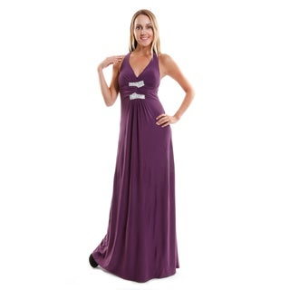 Hadari Women's Contemporary Halter Evening Dress
