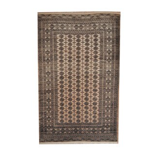 Herat Oriental Afghan Hand-knotted Turkoman Wool Rug (6'2 x 9'9)