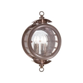 Troy Lighting Charleston 2-light Wall Lantern, Heritage Bronze