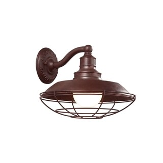 Troy Lighting Circa 1910 1-light Large Wall Sconce, Old Rust