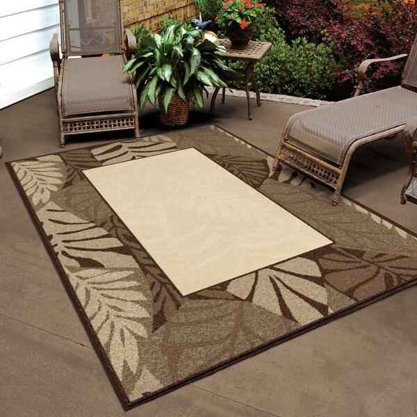 Carolina Weavers Indoor/ Outdoor Four Seasons Collection Captivia Driftwood Area Rug (7'8 x 10'10)