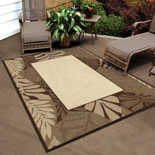 Carolina Weavers Indoor/ Outdoor Four Seasons Collection Captivia Driftwood Area Rug (7'8 x 10'10)
