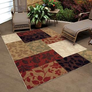 Carolina Weavers Indoor/ Outdoor Four Seasons Collection Monique Multi Area Rug (7'8 x 10'10)