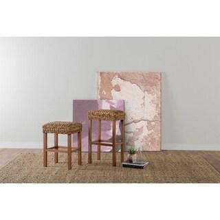 Micu Rattan 30-inch Backless Barstool by Kosas Home - 30h x 18w x 14d