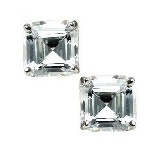 Michael Valitutti Sterling Silver Cubic Zirconia Princess Stud Earrings