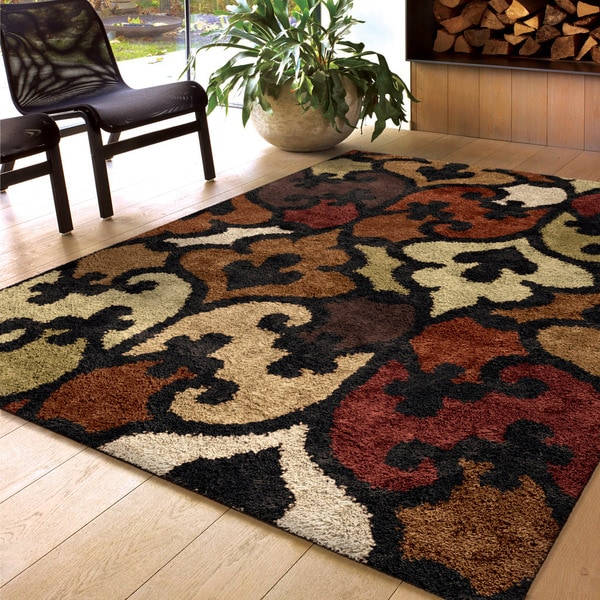 Carolina Weavers Comfy And Cozy Ri La Lambert Black Area Rug 5