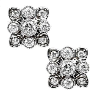 Michael Valitutti Sterling Silver Cubic Zirconia Earrings