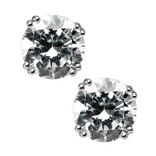 Michael Valitutti Sterling Silver Cubic Zirconia Earrings