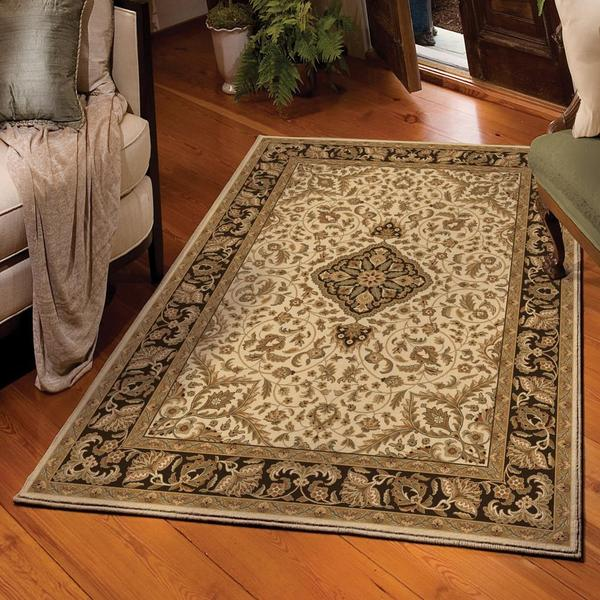 Carolina Weavers American Heirloom Collection Avalon Bisque Area Rug (5'3 x 7'6)
