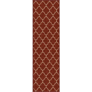 Carolina Weavers Simplicity Collection Williams Cinnabar Runner (2'3 x 8')
