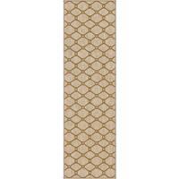 "Carolina Weavers Simplicity Collection Trafalgar Khaki Runner (2'3 x 8') - 2'3"" x 8'"