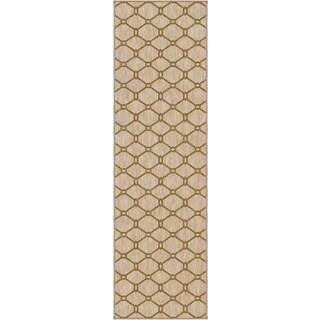 Carolina Weavers Simplicity Collection Talavera Khaki Runner (2'3 x 8')