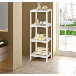 Bamboo Natural Spa 4-shelf Tower
