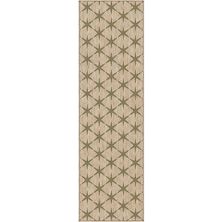 "Simplicity Northstar Khaki Green Tea Runner (2'3"" x 8')"