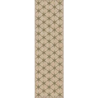 Carolina Weavers Simplicity Collection Northstar Khaki Green Tea Runner (2'3 x 8')