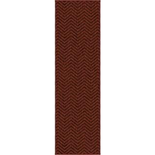 "Simplicity Harrington Cinnabar Brown Runner (2'3"" x 8')"