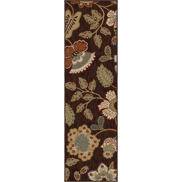 9bd428c53d Shop Carolina Weavers Harmony Collection Layla Brown Runner (2 3 x 8 ) -  2 3 x 8 - Free Shipping Today - Overstock.com - 10185381