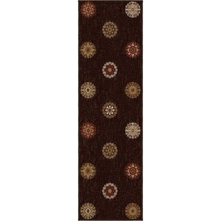 Carolina Weavers Harmony Collection Aracadia Brown Runner (2'3 x 8')