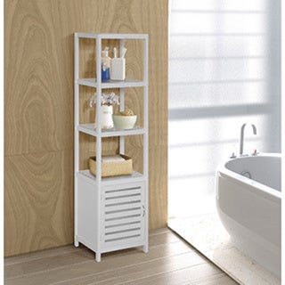 Shop Bamboo Natural Spa 5 Shelf Cabinet Tower Free