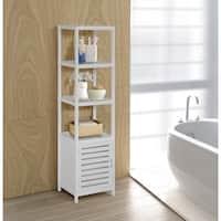 Bamboo Natural Spa 5-shelf Cabinet Tower