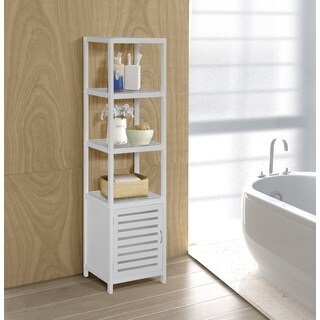 Bamboo Natural Spa 5-shelf Cabinet Tower